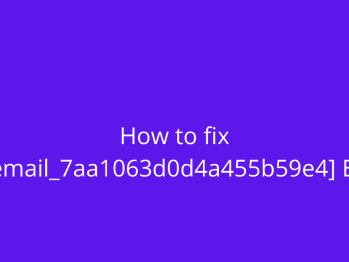 [pii_email_7aa1063d0d4a455b59e4]-error-fix